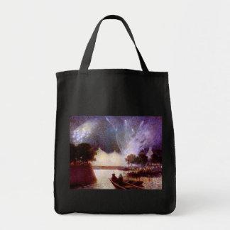 Du Puigaudeau: Fireworks over the Port Tote Bag