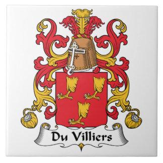 Du Villiers Family Crest Tile