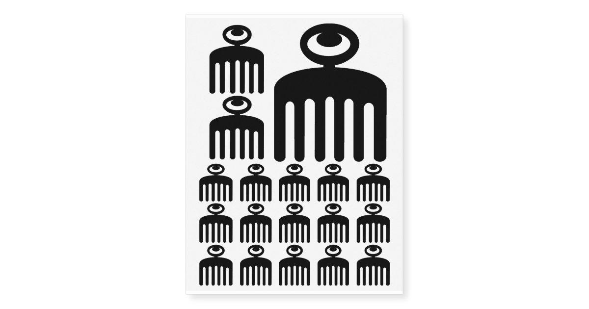 Duafe Adinkra Symbol For Feminine Beauty Temporary Tattoos