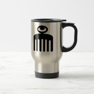 Duafe | Adinkra Symbol for Feminine Beauty Travel Mug