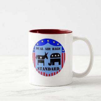 DUAL AIR BAGS STANDARD COFFEE MUG DEMOCRAT