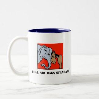 DUAL AIR BAGS STANDARD COFFEE MUG REPUBLICAN