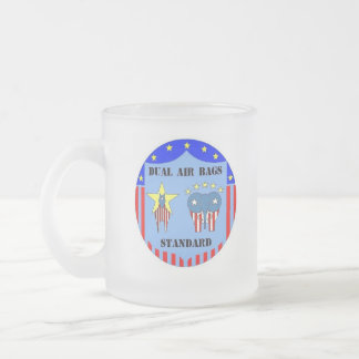 DUAL AIR BAGS STANDARD FROSTED COFFEE MUG DEMOCRAT