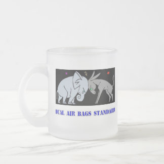 DUAL AIR BAGS STANDARD FROSTED COFFEE MUG REPUBLIC