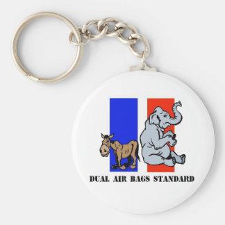 DUAL AIR BAGS STANDARD KEYCHAIN DEMOCRAT