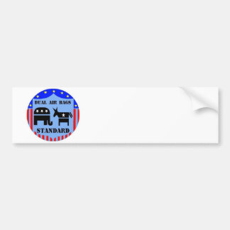 DUAL AIR BAGS STANDARD POLITICAL BUMPER STICKER