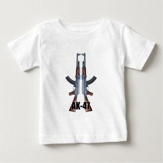 Dual AK-47 Assault Rifles Baby T-Shirt