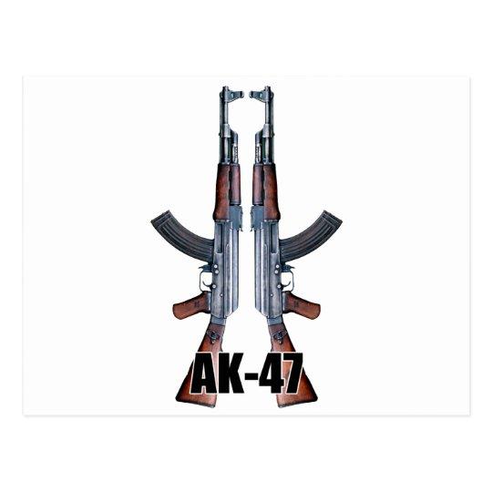 Dual AK-47 Assault Rifles Postcard