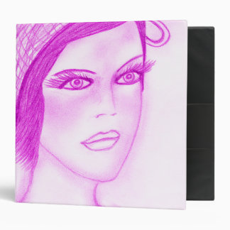 Dual Bow Flapper in Hot Pink Binder