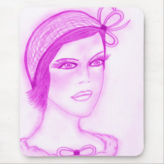 Dual Bow Flapper in Hot Pink Mouse Pad
