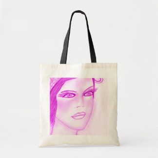 Dual Bow Flapper in Hot Pink Tote Bag