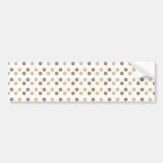 Dual Brown Polka Dots Bumper Sticker