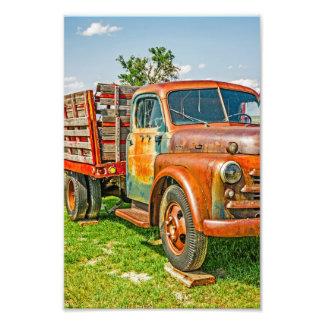 Dual - camión - - vintage - colorido oxidado viejo fotografías