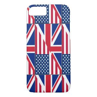 Dual Citizen American & British Flag iPhone 7 Case
