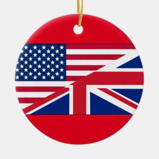 Dual Citizen American & British Flag Ornament