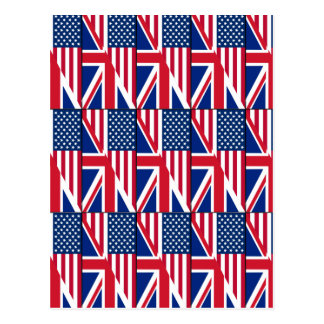 Dual Citizen American & British Flag Postcard