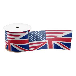 Dual Citizen American British Flag Ribbon