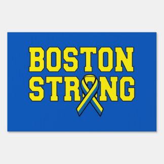 Dual Color sided signage Boston Strong Ribbon