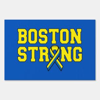 Dual Color sided signage Boston Strong Ribbon Yard Sign