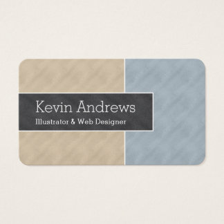Dual ColorBlock Business Card