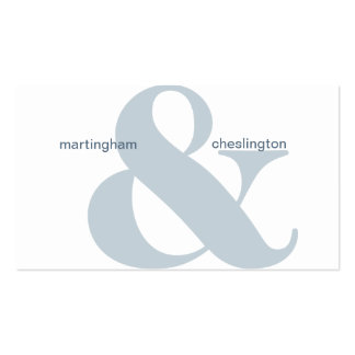 Dual Company Name Blue Ampersand Business Card