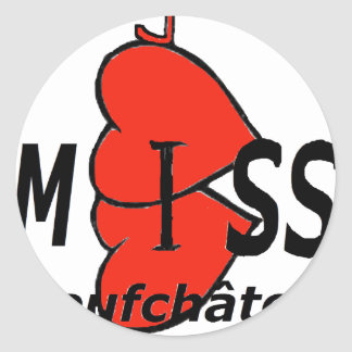 Dual-core Miss Neufchatel Hardelot 1 PNG Round Stickers