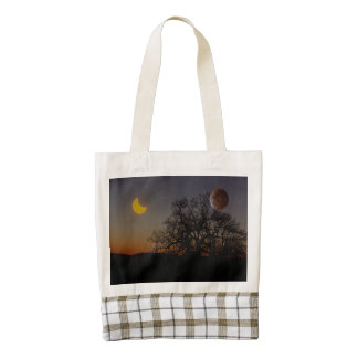 Dual Eclipse Zazzle HEART Tote Bag
