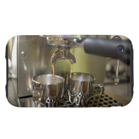 Dual espresso shots being brewed. iPhone 3 tough case