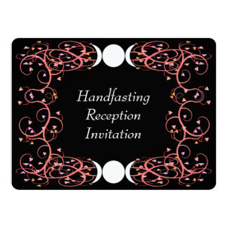 Dual Goddess Lesbian Wiccan Reception Invitation