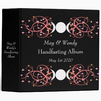 Dual Goddess Wiccan Lesbian Handfasting Album 3 Ring Binder