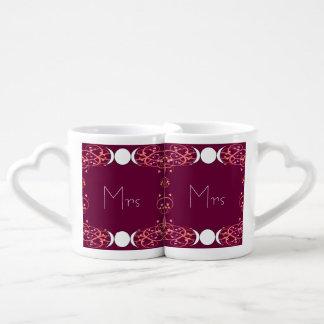 Dual Goddess Wiccan Lesbian Mrs & Mrs Lovers' Mugs