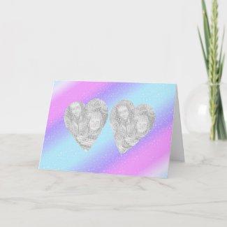 """Dual Hearts 3"" Card"
