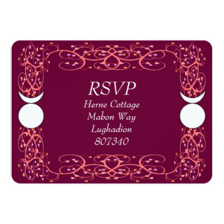 Dual Horned God Gay Wiccan Handfasting RSVP Card
