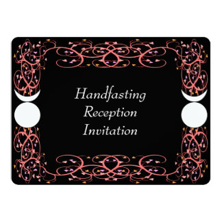 Dual Horned Gods Gay Wiccan Reception Invitation