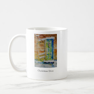 Dual Image, Christmas Door Coffee Mug