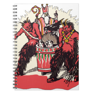 Dual Krampus and Old St. Nick Notebook