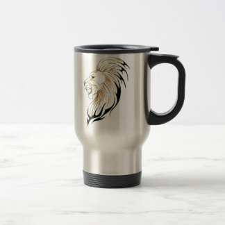 dual lion head stainless travel mug