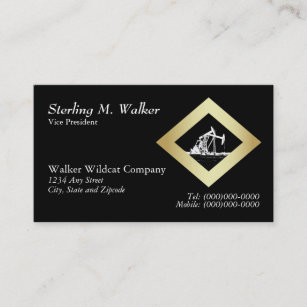 Dual business cards templates zazzle dual oil well pumping unit in gold diamond shape business card colourmoves