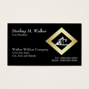 Diamond shaped business cards templates zazzle dual oil well pumping unit in gold diamond shape business card colourmoves