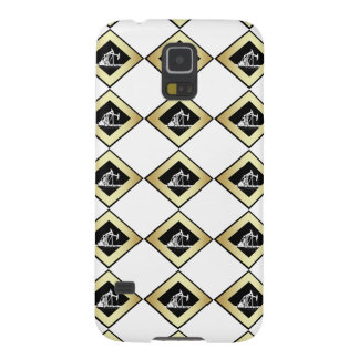 Dual Oil Well Pumping Units Gold and White Cases For Galaxy S5
