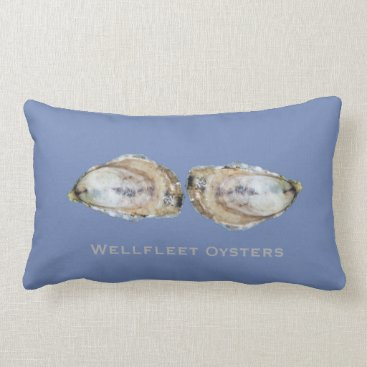 Beach Themed Dual Oyster Lumbar Pillow - Design A Dual Blue