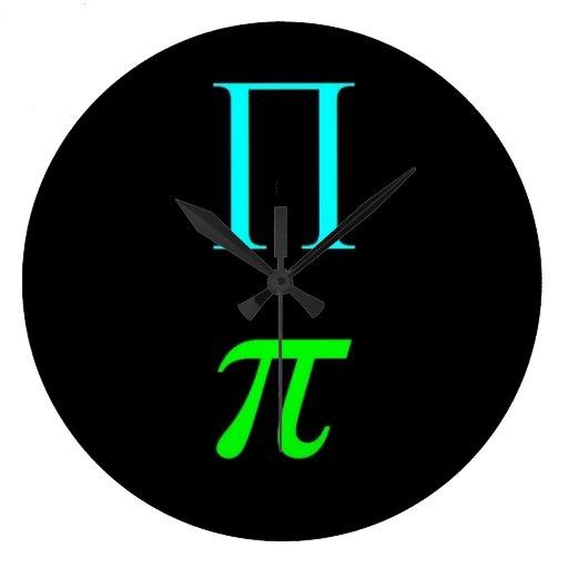 Dual Pi Symbol Wall Clock