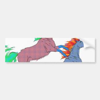 Dual Pony Bumper Sticker