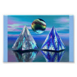 Dual Pyramid Lake Print