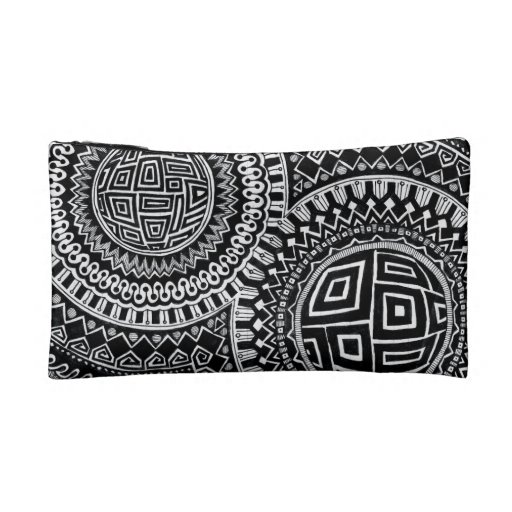 Dual-Sided Graphic Orbs/Tiles small make-up bag Cosmetic Bags