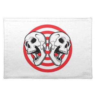 Dual Skull Target Placemat