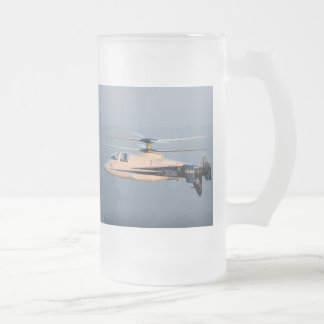 DUAL STABILIZER HELICOPTER FROSTED GLASS BEER MUG