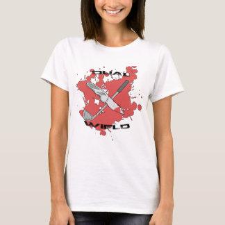 Dual Wield Raccoon Fighter (Women's) T-Shirt