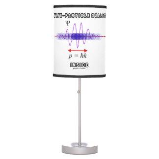 Dualidad de la Onda-Partícula dentro del principio Lámpara De Mesilla De Noche