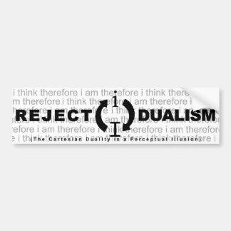 Dualidad del rechazo pegatina de parachoque